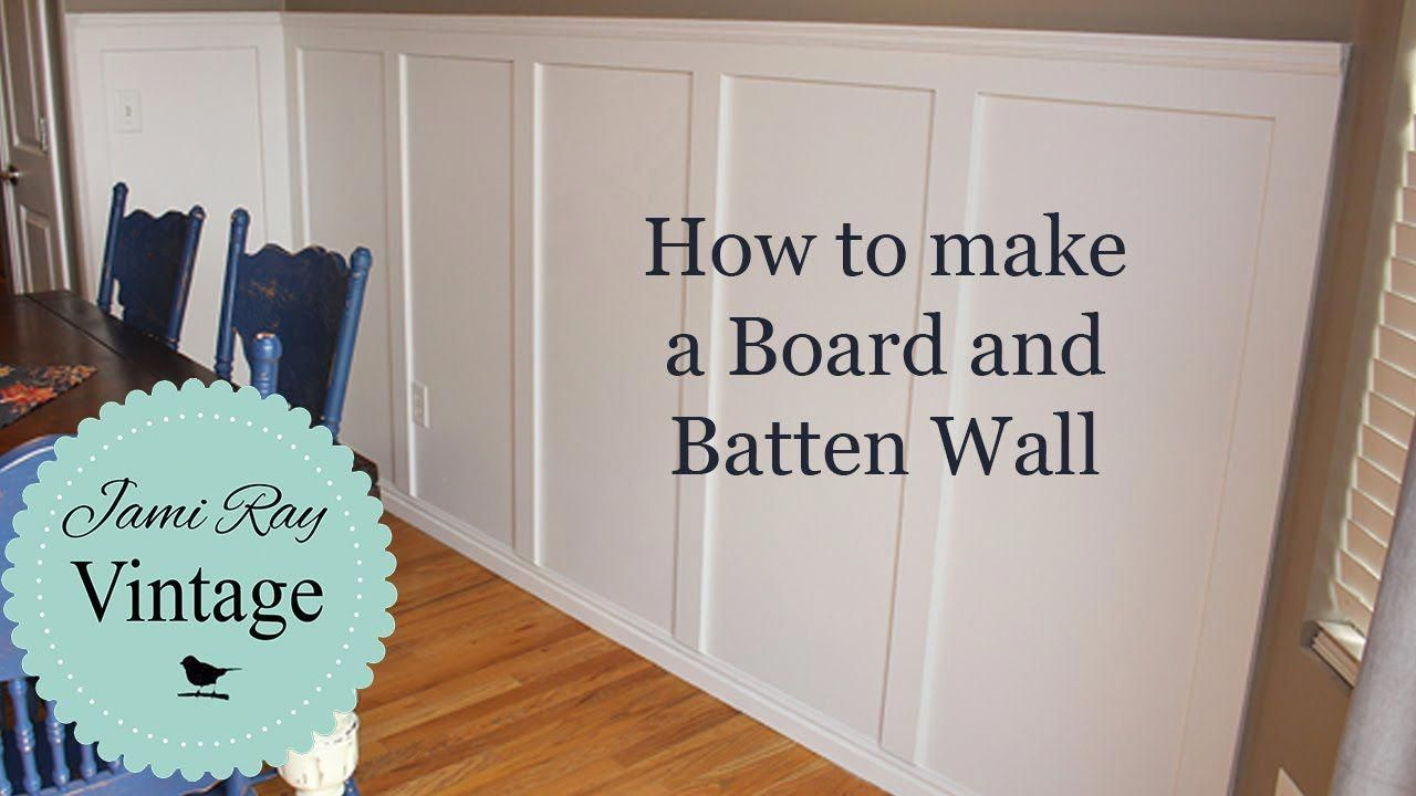How to do a Board and Batten Wall #panelingwallsfoyers #boardandbattenwall