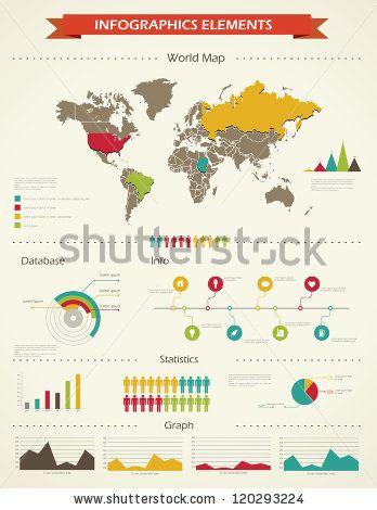 Stock vector retro infographics set world map and information retro infographics set world map and information graphics gumiabroncs Gallery