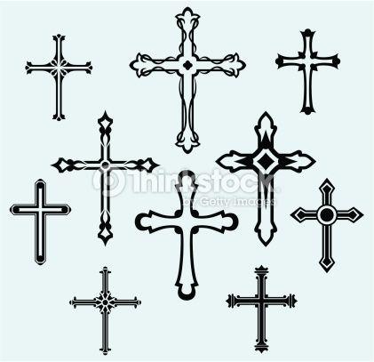 vector art cross design tattoo vorlagen kreuz. Black Bedroom Furniture Sets. Home Design Ideas