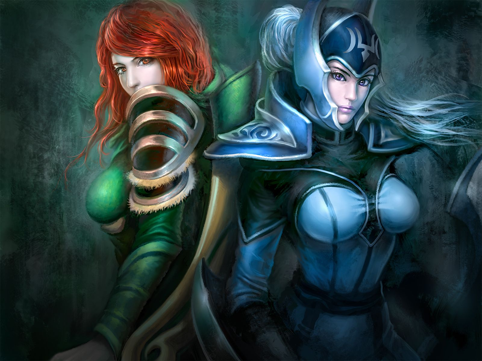 windrunner and luna dota2 dota 2 pinterest painting videos