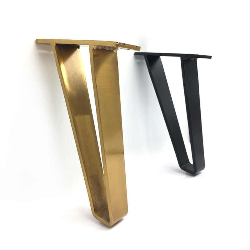 U Shaped Gold Hairpin Table Desk Leg Bracket Protector 18cm Solid Iron Support Leg For Furniture Sofa Cabinet Chair Diy Hardware Aliexpress In 2020 Metal Furniture Legs Furniture Legs Desk Legs