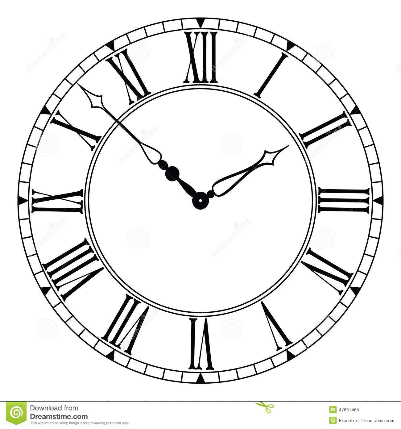 Clock Stock Vector