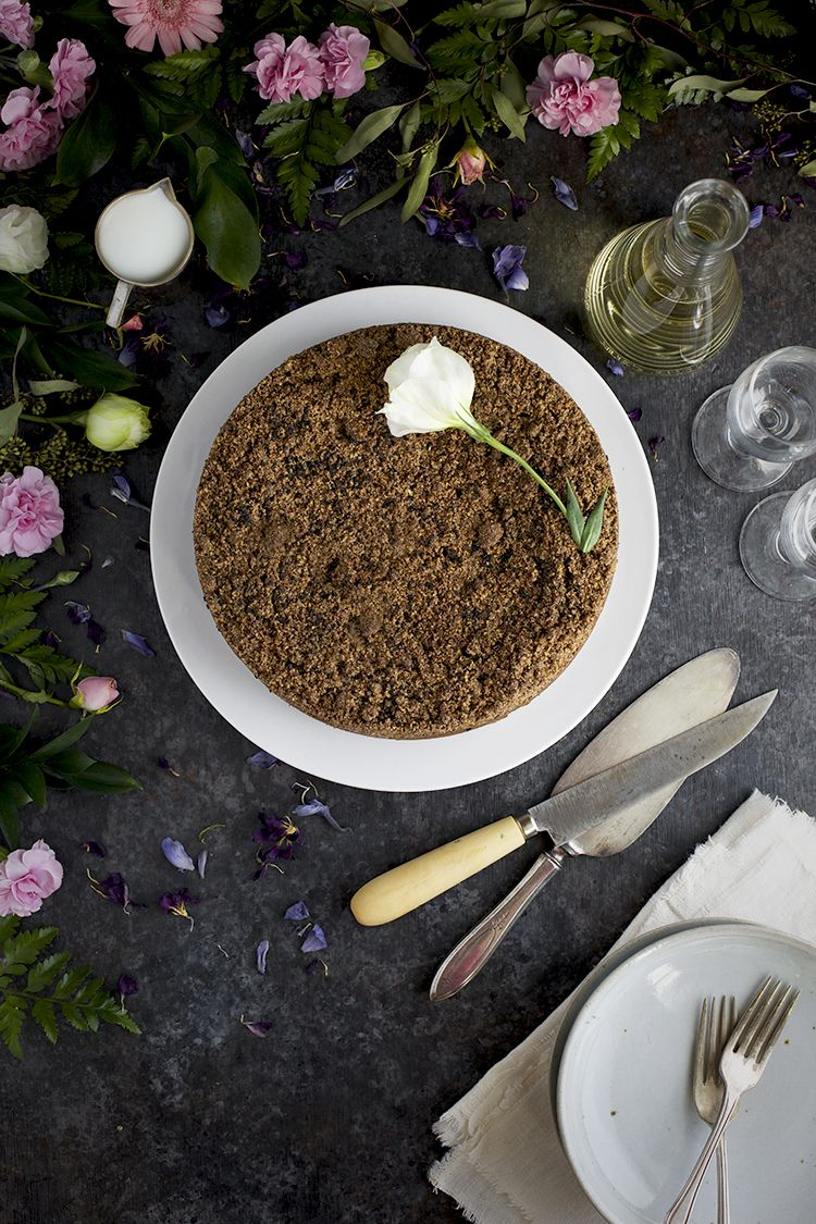 Black sesame crumb cake recipe egg free desserts