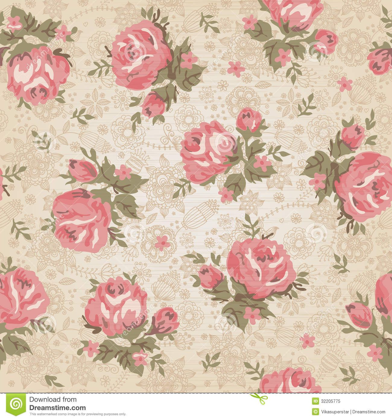 Vintage Seamless Floral Pattern - Download From Over 26 Million ...