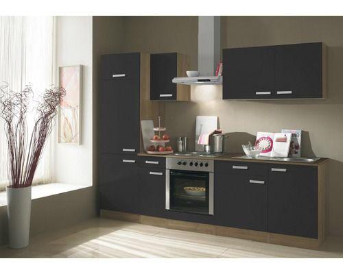 Küchenzeile Kompakt Salem KPSL2701DE-9 270 cm Anthrazit inkl - küche 270 cm