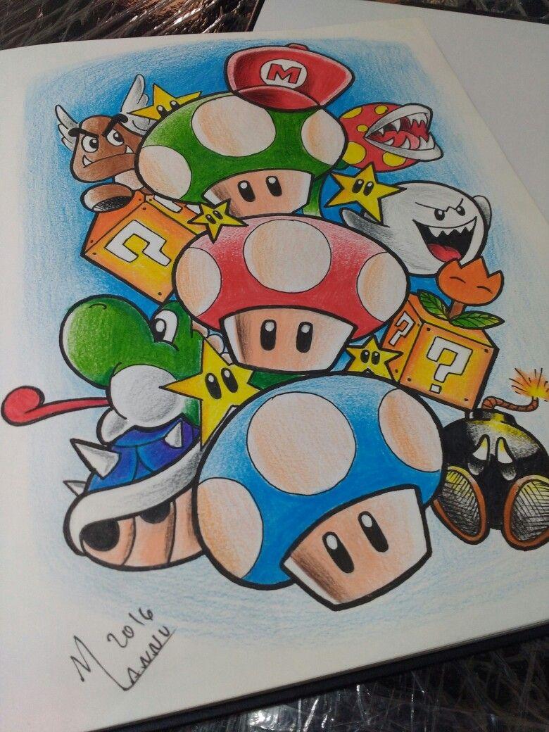 Super Mário game | Disegni | Pinterest | Dibujo, Tatuajes y Dibujar