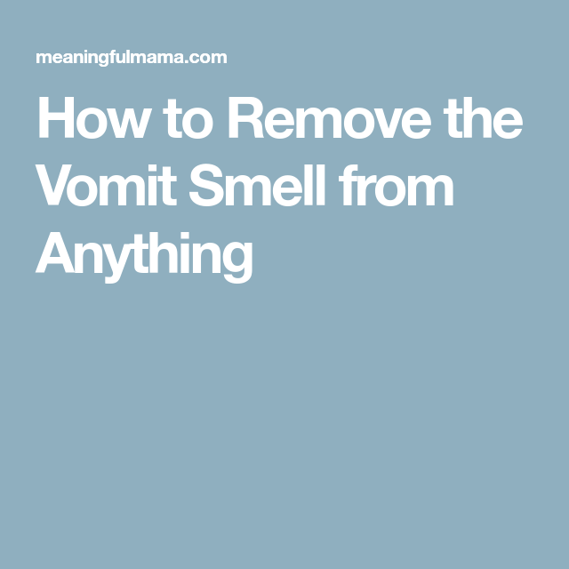 How To Remove The Vomit Smell From Carpet Furniture Car And Anything Else Smell Remover Vomit How To Remove