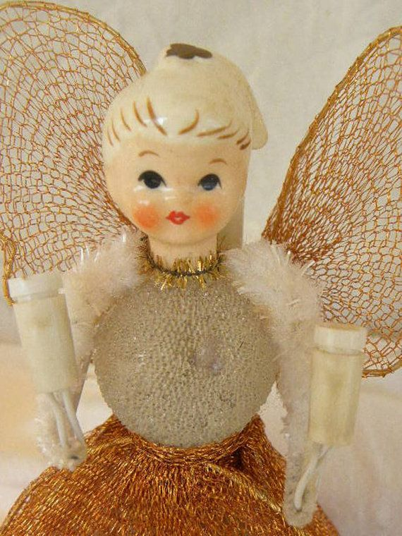 Help I Want To Find One EXACTLY Like This One Vintage Lighted  - Christmas Angel Tree Topper Lighted