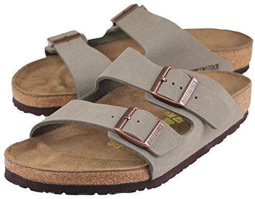 fcf47bd06af11 Birkenstock Arizona Womens Narrow Fit Sandals in Stone BirkoFlor 35 N EU  445 US Women *** See this great product.