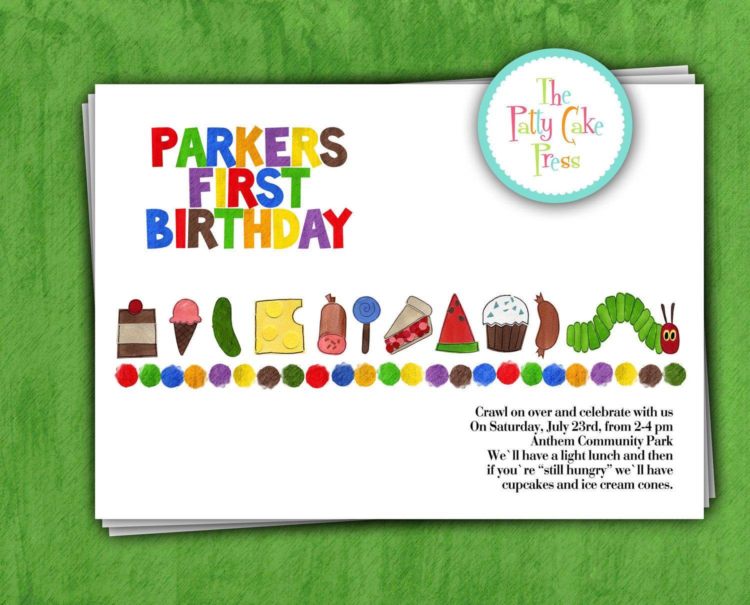 very hungry caterpillar first birthday   Request a custom order and ...