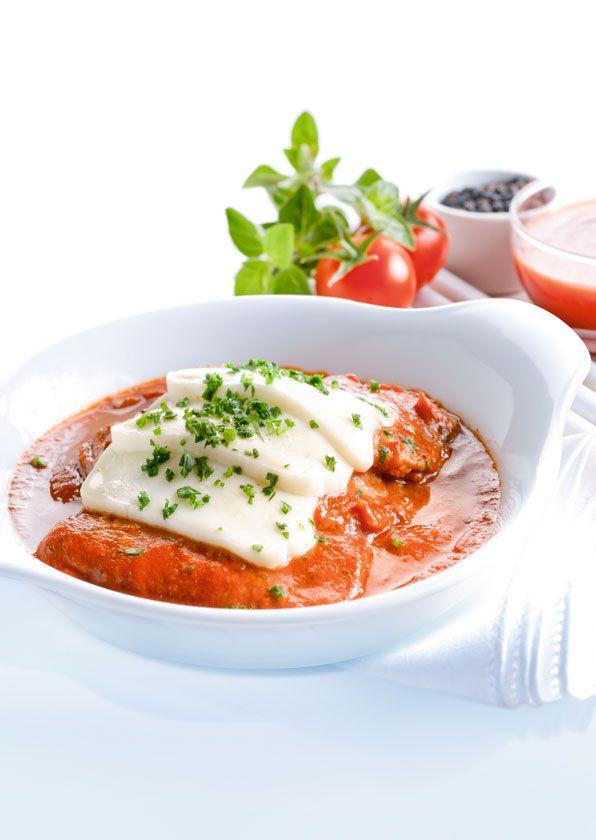 Rezept Rindsschnitzel alla Pizzaiola mit Mozzarella