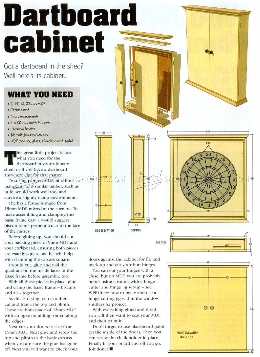 103 Dartboard Cabinet Plans - Other Woodworking Plans and Projects ...