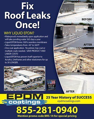 Liquid Rubber White Liquid Epdm Roof Coating 1 Gallon Http Www Amazon Com Dp B003ka7hps Ref Cm Sw R Pi Awdm Wflotb1z5gd5t Liquid Rubber Roof Coating Roof