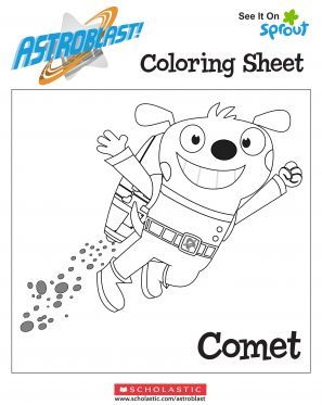 Comet Coloring Page – Astroblast Coloring Pages for Kids | Sprout ...