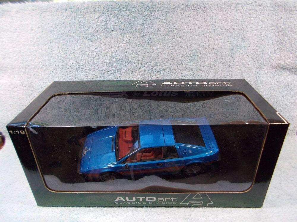 1/18 1998 LOTUS ESPRIT TURBO S2 IN METALLIC BLUE\RED\WHITE BY AUTO ART. #AUTOART #1998LOTUSESPRITTURBOS2