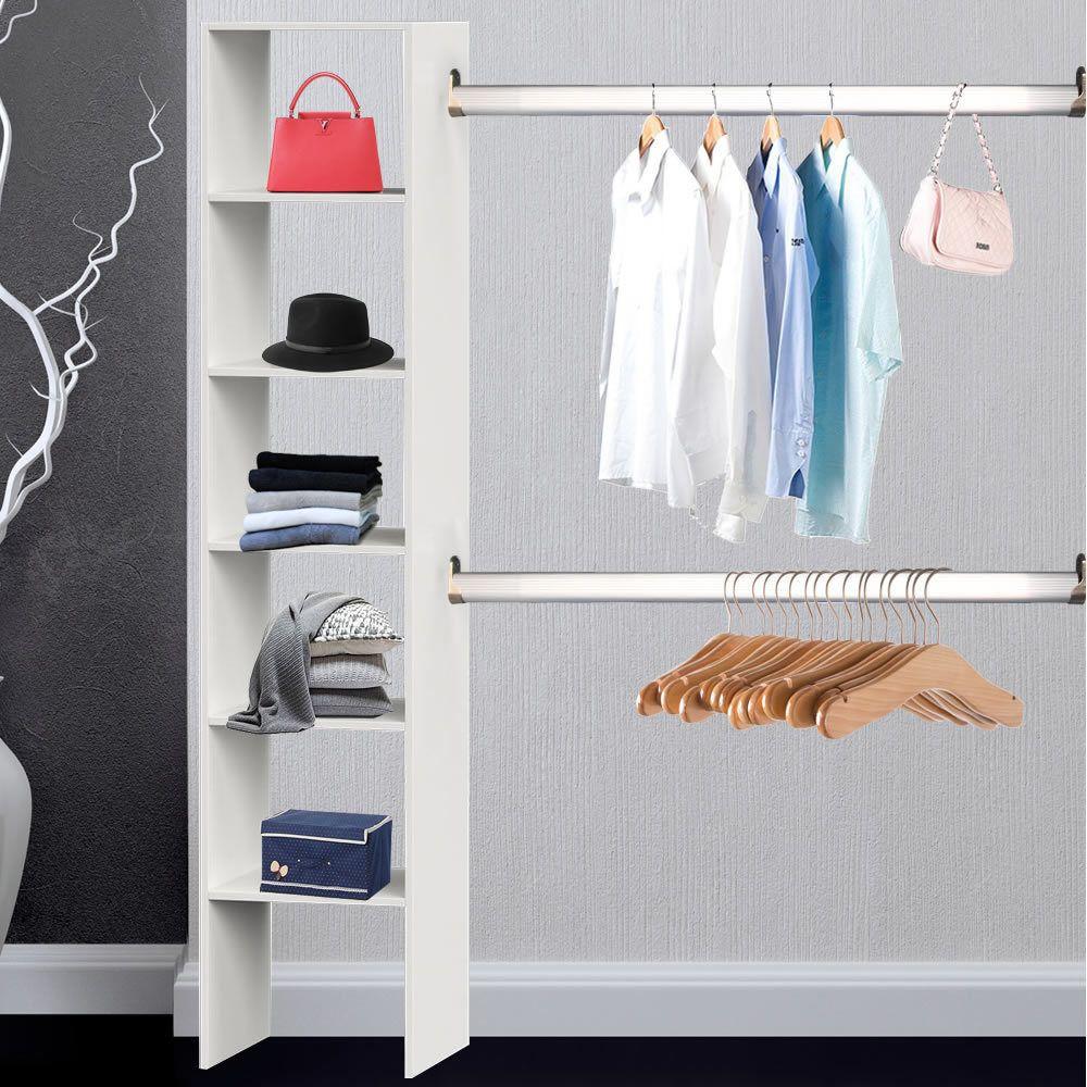Kleiderschrank Weiss Begehbar Kleiderstander Garderobenschrank