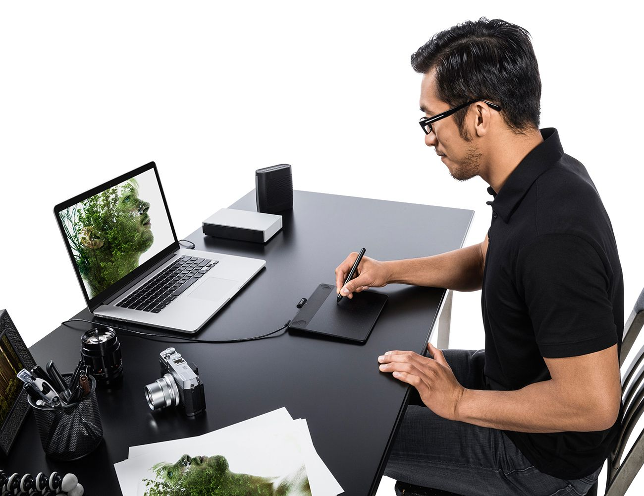 Designed to replace your mouse, the tablet can be used with