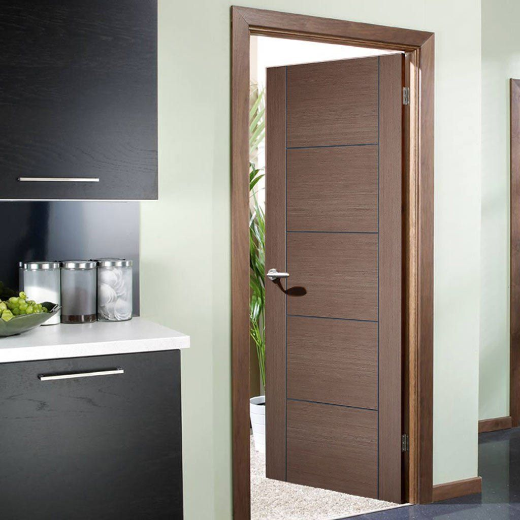 Bespoke Fire Door Vancouver Chocolate Grey 1 2 Hour Fire Rated Prefinished Walnut Doors Fire Doors Door Fittings