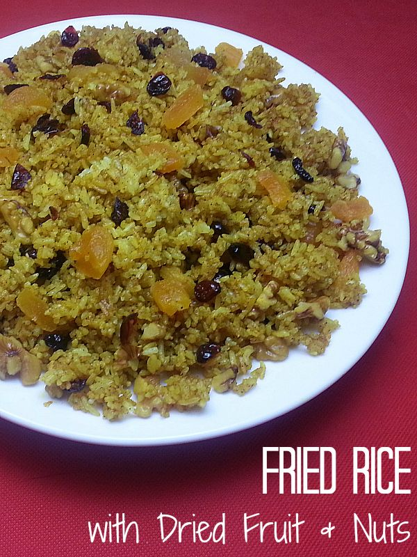 Fried rice with dried fruit nuts mindblowing food recipes fried rice with dried fruit nuts vegan dinnerseasy ccuart Image collections