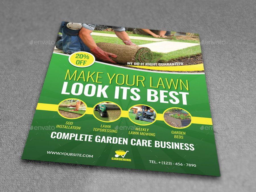 Garden Services Advertising Bundle Vol 2 Garden Services Roll Up Design Billboard Design