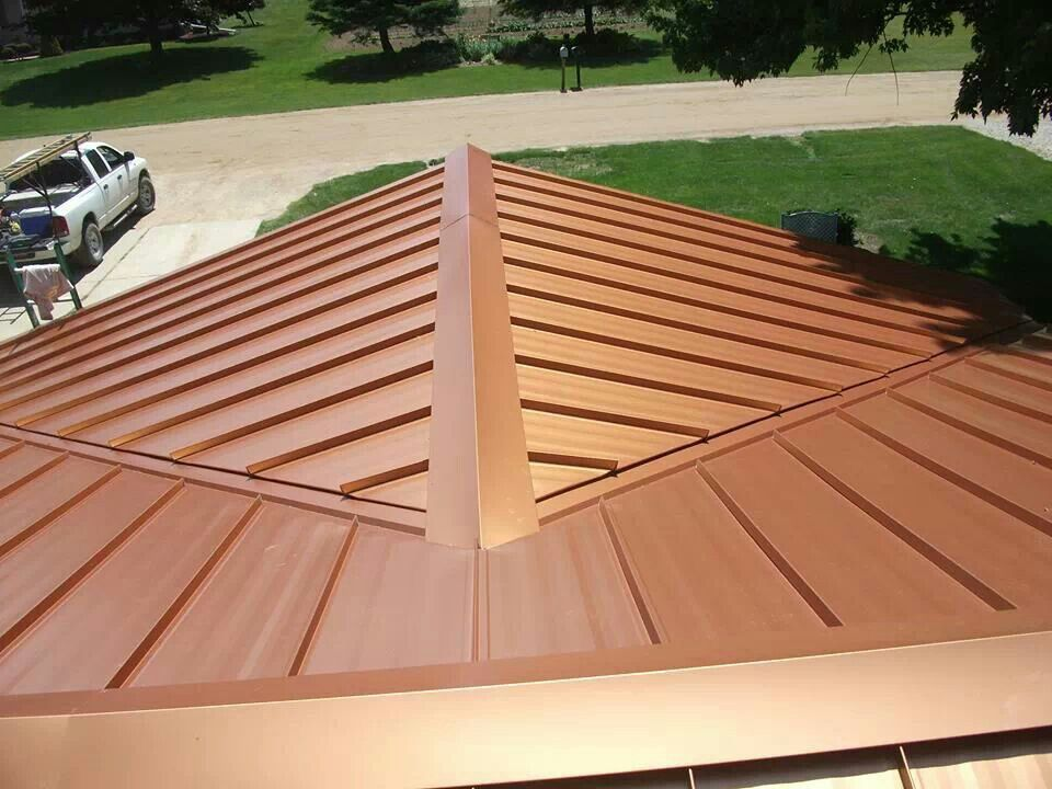 Best Our Steel Roof Color Copper Penny Installed By Parraghi 640 x 480