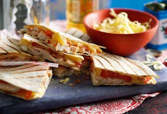 Quesadillas mit Hähnchenstreifen