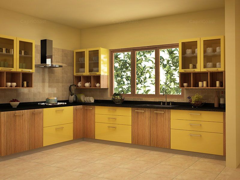 Lshaped Sunshine Modular Kitchen On Capricoast Is Fulfilled Endearing Modular Kitchen L Shape Design Review