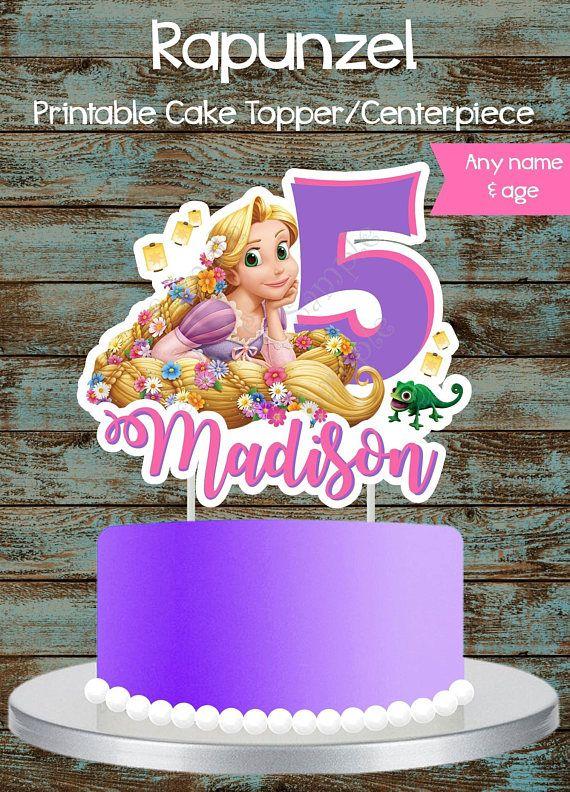 Custom Rapunzel Cake Topper Centerpiece Tangled Birthday Party 5th