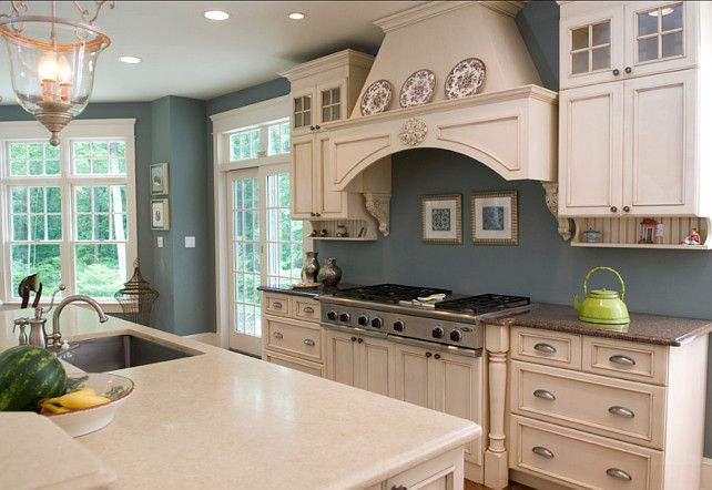 Interior Design Ideas Home Bunch Kitchen Design Blue Kitchen Walls Popular Kitchen Paint Colors