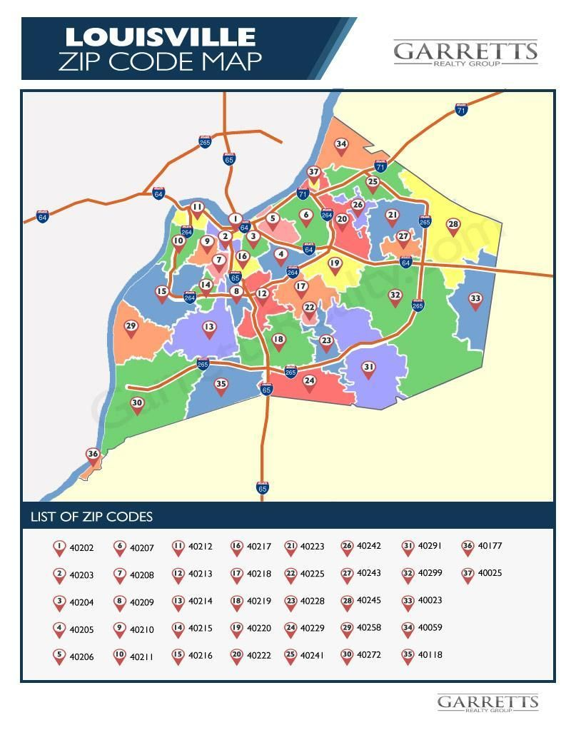 Complete List Of Louisville Ky Zip Code Map Live Louisville Ky