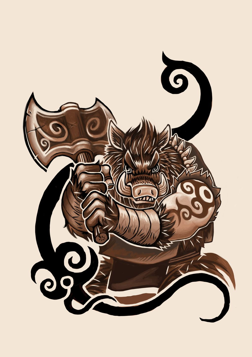 boar tattoo design by k hots deviantart com on deviantart orkov rh pinterest com celtic boar tattoo designs bear tattoo designs