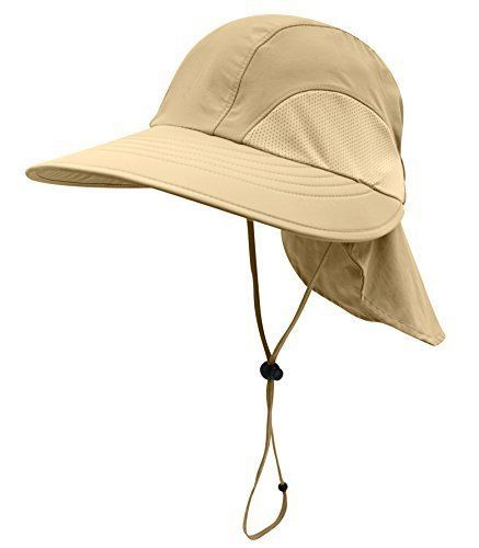 0f891f5ff313c Home Prefer Men s Sun Hat Wide Brim Light Weight Fishing with Neck Flap Hats   HomePrefer