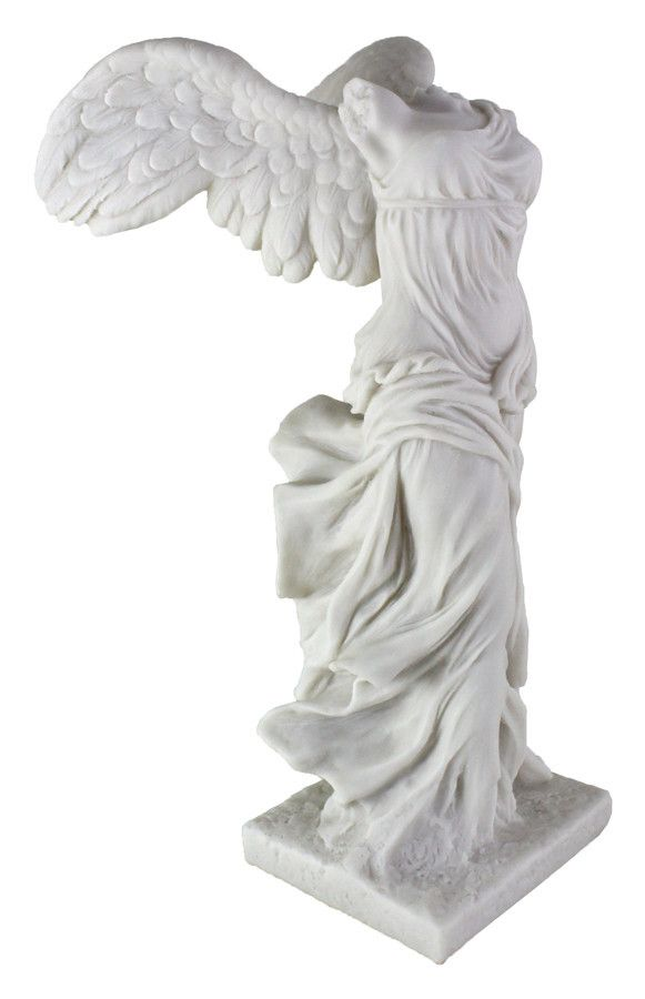 "Winged Victory of Samothrace Sculpture (11"" H) - Reproduction"