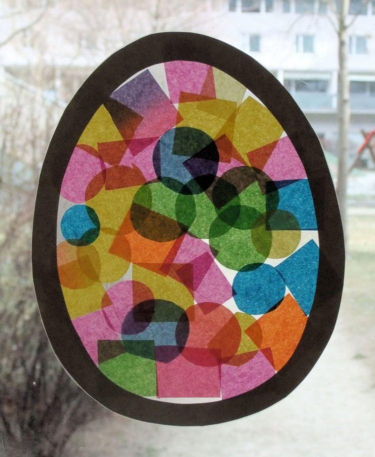 Lichtdurchl ssiges fensterbild zu ostern basteln basteln - Fensterbilder grundschule ...