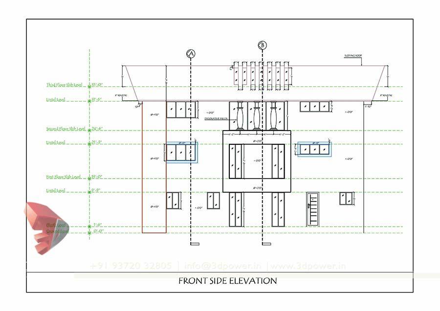 Bungalow Drawing Design 3d Architectural Visualization 3d Architectural Rendering Bungalow Design