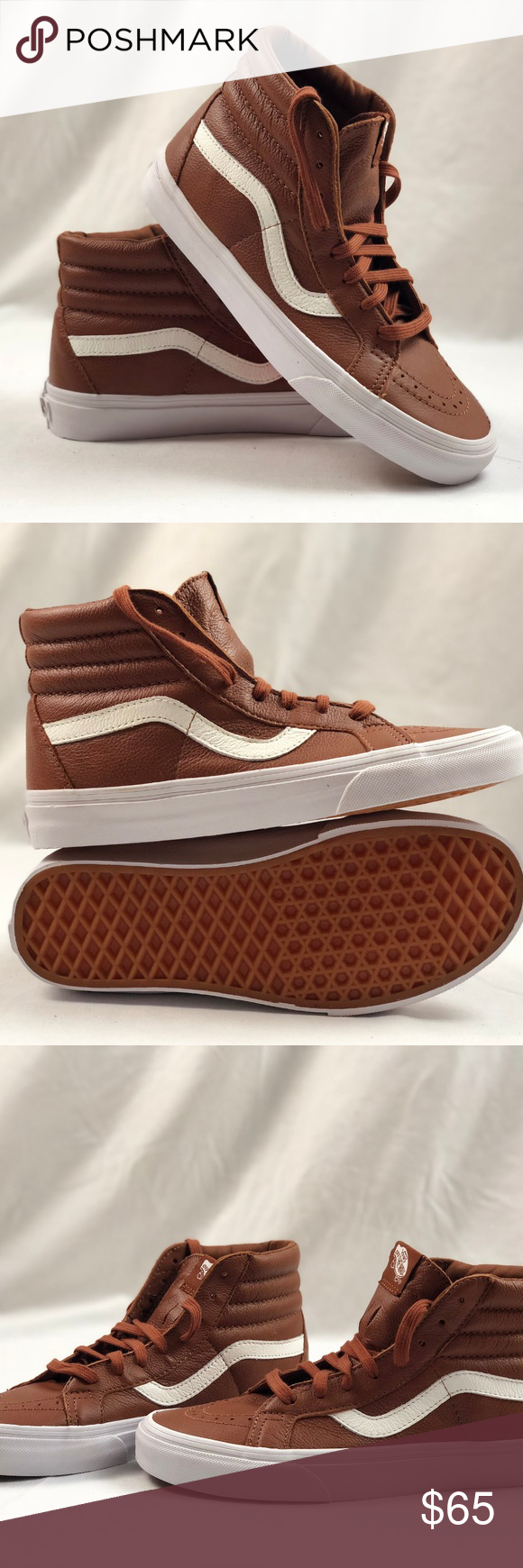 116d19834a9467 Vans SK8 Hi Reissue Premium Leather Tortoise Shell Vans SK8 Hi Reissue  Premium Leather Tortoise Shell. Condition  New with box. Size  Women s 8