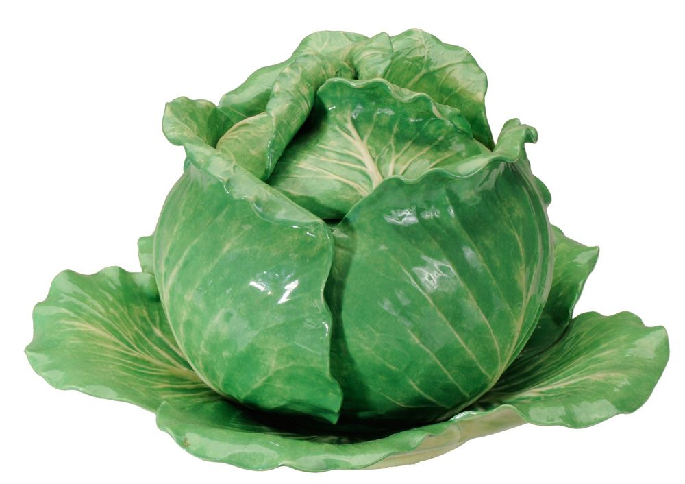 A Lovely Cabbage Beautiful On Any Table Ceramic Fruit