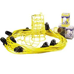 Festoon Lighting For Site Here Festoon Kits 22m And 100m Include Bulbs And Bulb Guards In 110v And 240v Also Led Fes Festoon Lighting Flood Lights Festoon