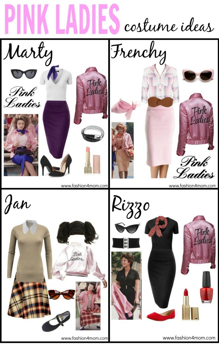 grease costume idea the pink ladies t birds sandy. Black Bedroom Furniture Sets. Home Design Ideas