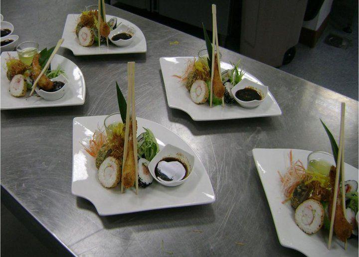 Gastronomy gourmet plate decoration art food plating