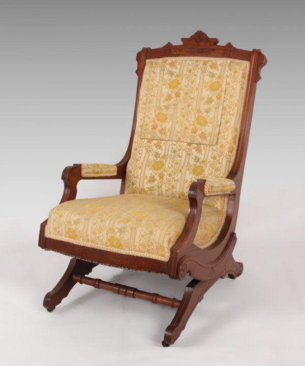 195: SCHRENKEISEN VICTORIAN PLATFORM ROCKER : Lot 195  Victorian  FurnitureAntique ...