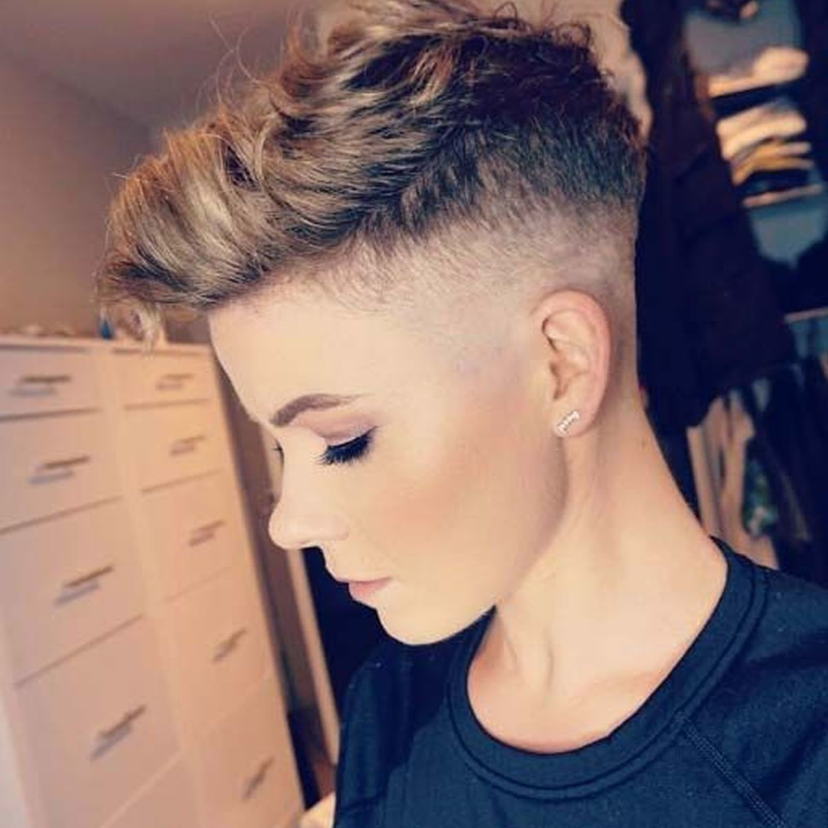 Undercut Womens Short Haircut in 12  Undercut hairstyles, Short