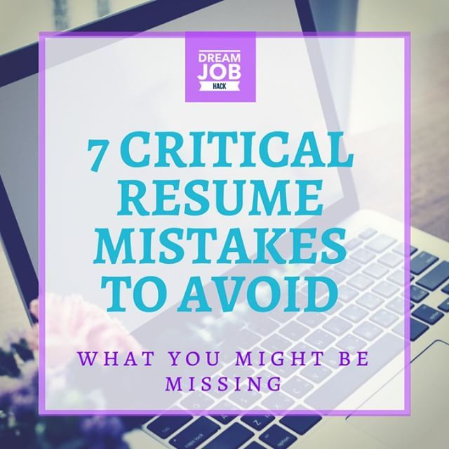 A year ago, I published my ebook - 7 Critical Resume Mistakes to - resume mistakes