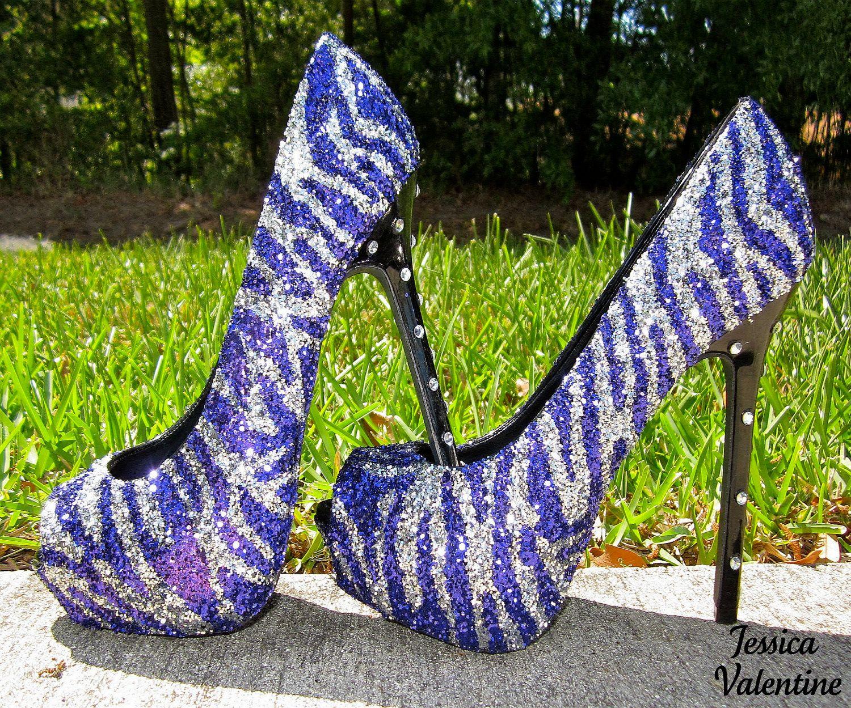 Purple Sparkly High Heels