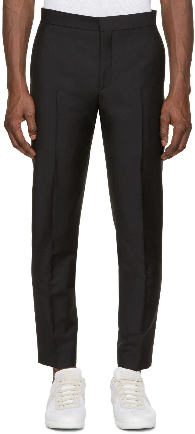 4e6b12d107bd ACNE STUDIOS Black Wool Phono Trousers.  acnestudios  cloth  trousers