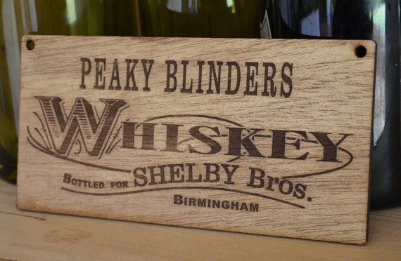 944f9ab41c1 Peaky Blinders Whiskey Sign - Shelby Brothers Cillian Murphy plaque ...
