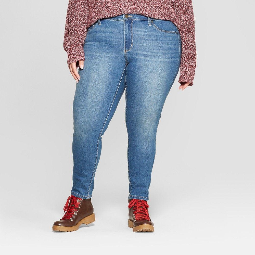 12f57c34f9b Women s Plus Size Jeggings - Universal Thread Medium Wash 18W