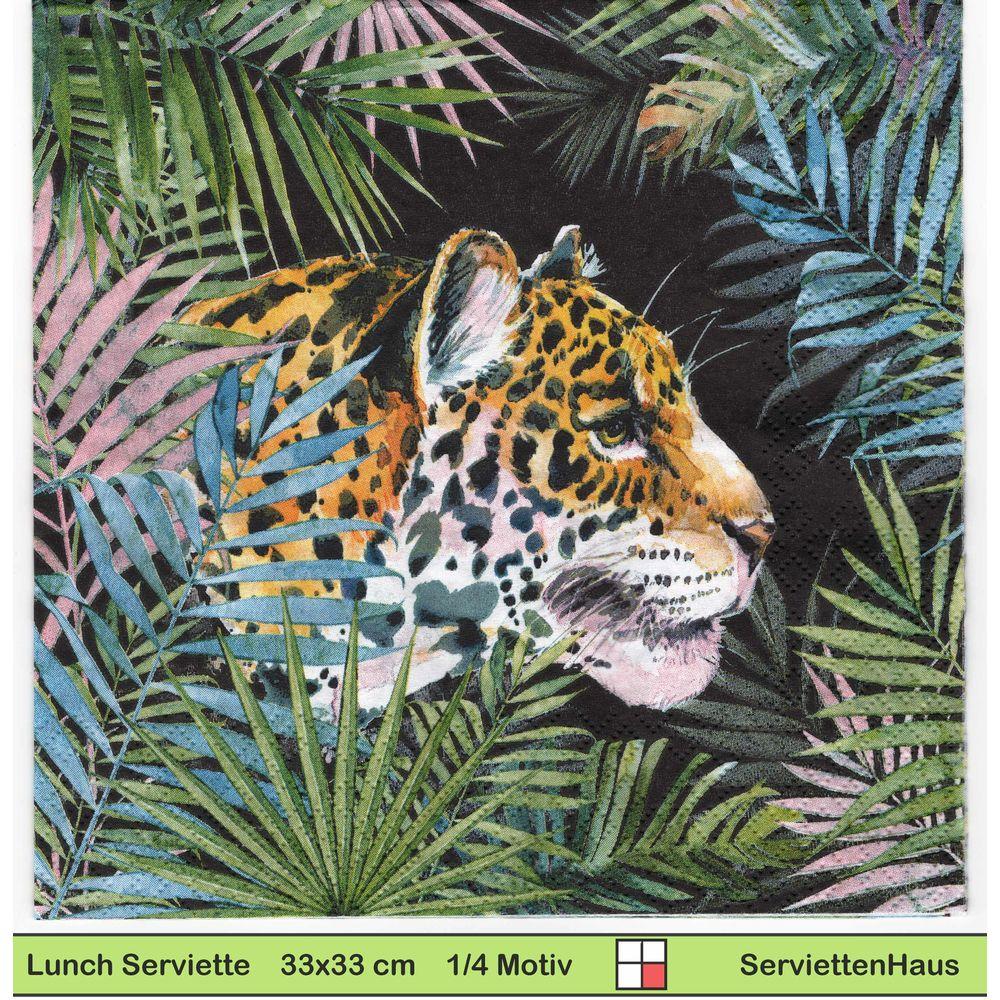 20 Servietten Serviettentechnik Graphic Leopard ppd 33x33