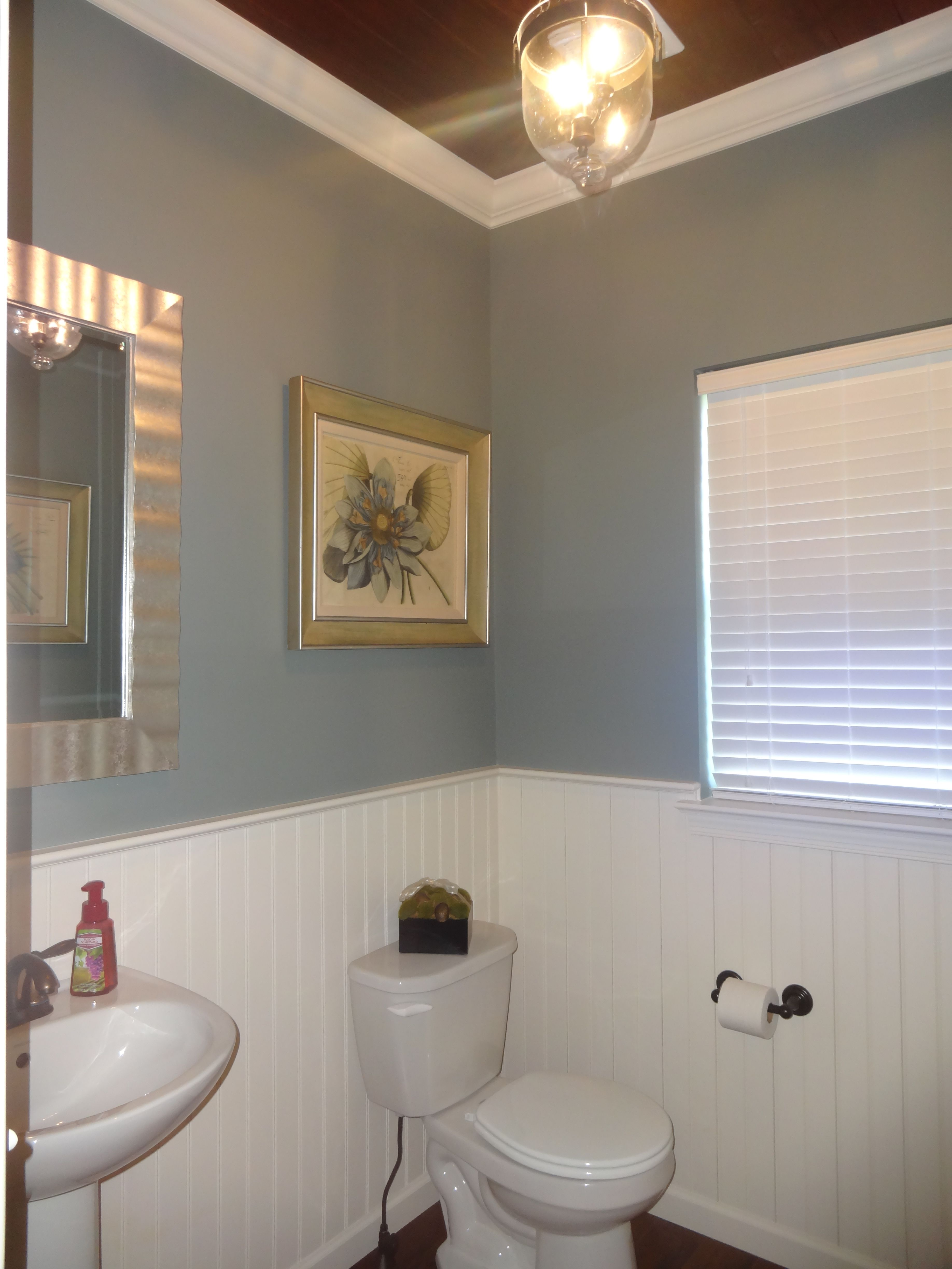 not just any ordinary powder room   this small bathroom in