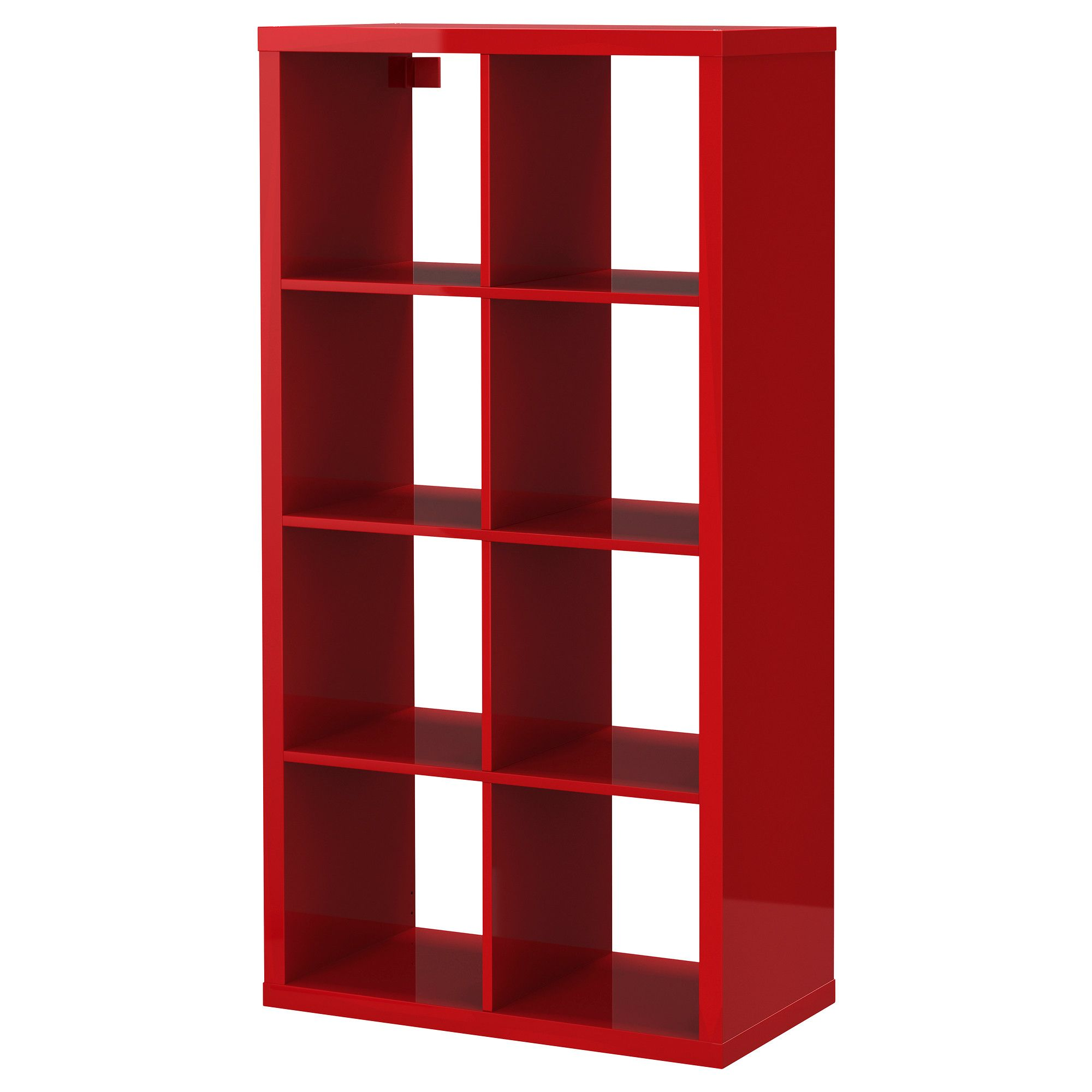 Kallax Tag Re Ultrabrillant Rouge Ikea Meubles Idee  # Placard Metallique Ikea Rouge